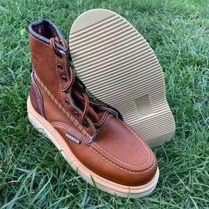 Men's Laces brown Work boots super soft & light